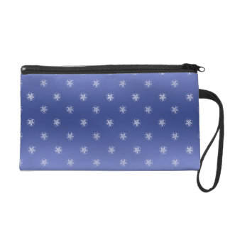 Blue White Crop Circle Wristlet