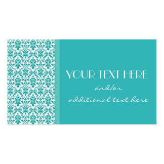Blue&White Damask Double-Sided Standard Business Cards (Pack Of 100)