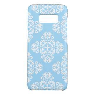 Blue white damask pattern Case-Mate samsung galaxy s8 case