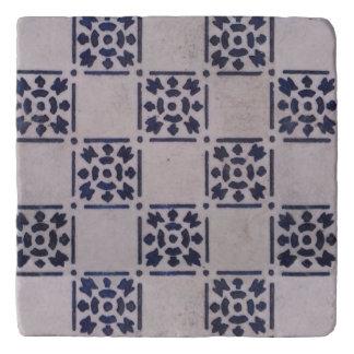 Blue White Delft Tile Art Print Pattern Trivet