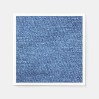 Blue White Denim Look Texture Paper Napkin