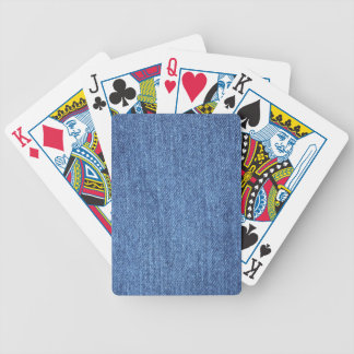 Blue White Denim Texture Look Image Bicycle Playing Cards