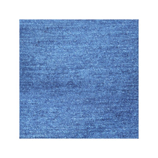 Blue White Denim Texture Look Image Canvas Print