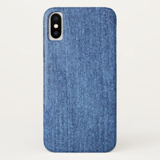 Blue White Denim Texture Look Image iPhone X Case