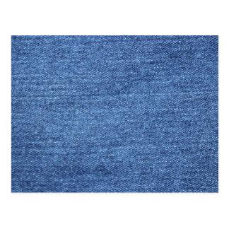 Blue White Denim Texture Look Image Postcard