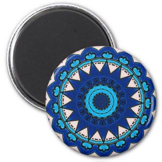 Blue & White Design Turkish Iznik Magnet