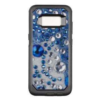 Blue & White Diamonds Blue Jean Pattern Design OtterBox Commuter Samsung Galaxy S8 Case