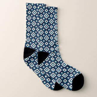 Blue & White Diamonds Socks 1
