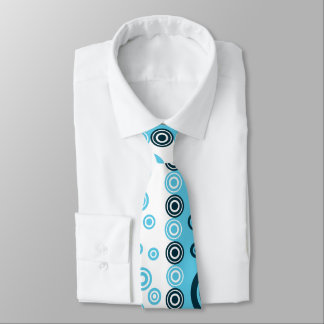 blue white dot tie