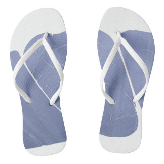 Blue-White Dreamy Marbled Thongs