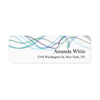 Blue White Elegant Minimalist Abstract Modern Return Address Label