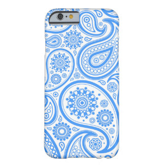 Blue White Floral Paisley Pattern Barely There iPhone 6 Case