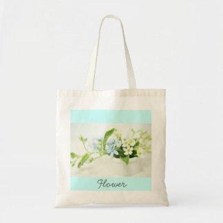 Blue & White flower bag