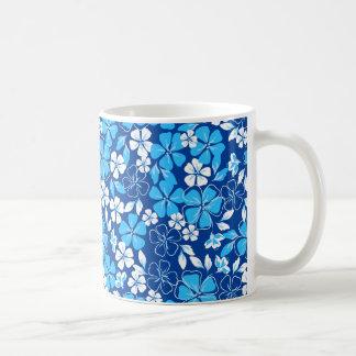 Blue & white flowers coffee mug
