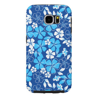 Blue & white flowers samsung galaxy s6 cases