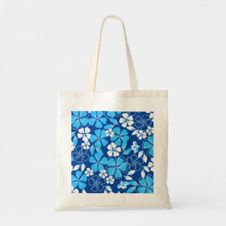 Blue & white flowers tote bag
