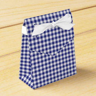 Blue-White Ginham-PARTY FAVOR BOX, tent Favour Box