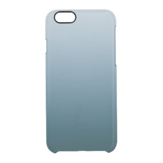 Blue White Gradient iPhone 6 Clear Case