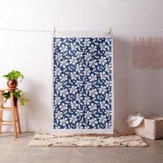 Blue & white hibiscus fabric