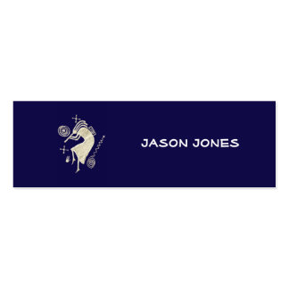 Blue & White Kokopelli Profile Card Pack Of Skinny Business Cards