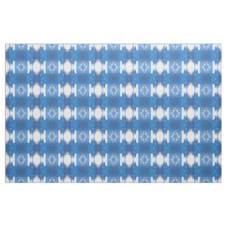 Blue White Light Reflection Fabric