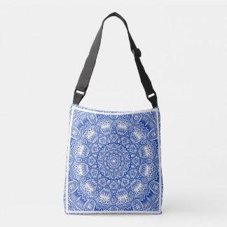 Blue & White Mandala Cross Body Bag