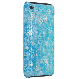 Blue,white mixation colours snowflake barely there iPod cover