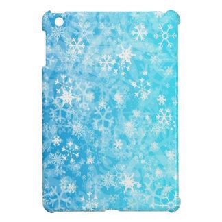 Blue,white mixation colours snowflake iPad mini covers