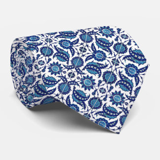 Blue & White Mosaic Tile Design Mans Tie