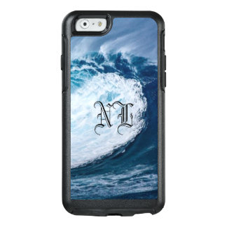 Blue & White Ocean Wave with NL Letters - OtterBox iPhone 6/6s Case