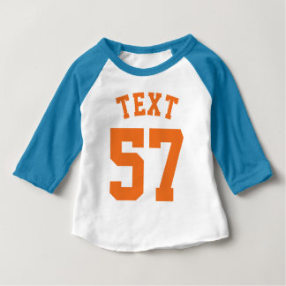 Blue White & Orange Baby | Sports Jersey Design Baby T-Shirt