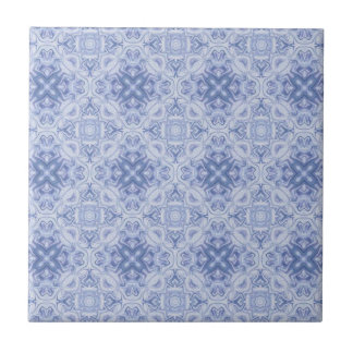 Blue & White Patterned Tile