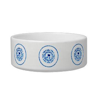 Blue White Pet Bowl