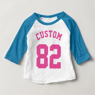 Blue White & Pink Baby | Sports Jersey Design Baby T-Shirt