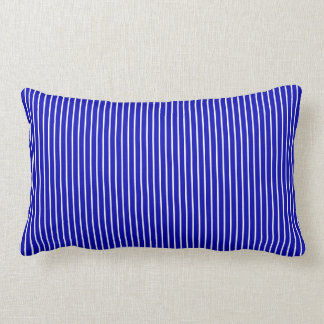 Blue White Pinstripe Lumbar Cushion