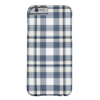 Blue White Plaid 1 Barely There iPhone 6 Case