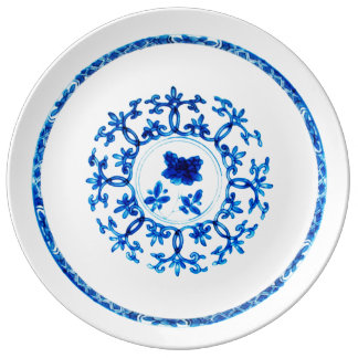 Blue White Plate