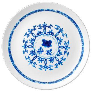 Blue White Plate Porcelain Plates