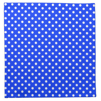 Blue & White Polka Dot Pattern Napkins