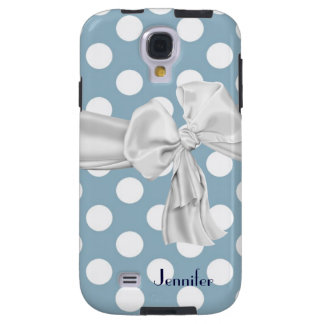 Blue & White Polka Dot Samsung Galaxy S4 Case