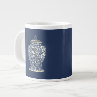 Blue & White Porcelain Vase by Vision Studio Large Coffee Mug