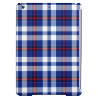 Blue White Red Black Tartan Plaid iPad Air Cover