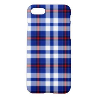 Blue White Red Star Large Tartan Plaid iPhone 8/7 Case