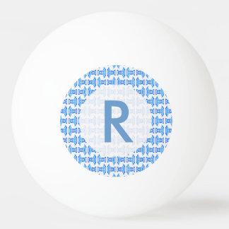 Blue White Retro Pattern