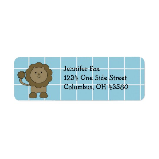Blue & White Safari Return Address Labels