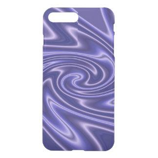Blue White Satin Swirl iPhone 7 Plus Case