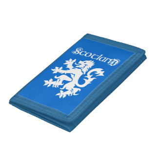 Blue & White Scottish Lion Rampant Tri-fold Wallet