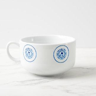 Blue White Soup Bowl