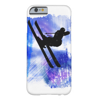 Blue & White Splashes Skier Barely There iPhone 6 Case