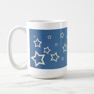 blue/white stars mug